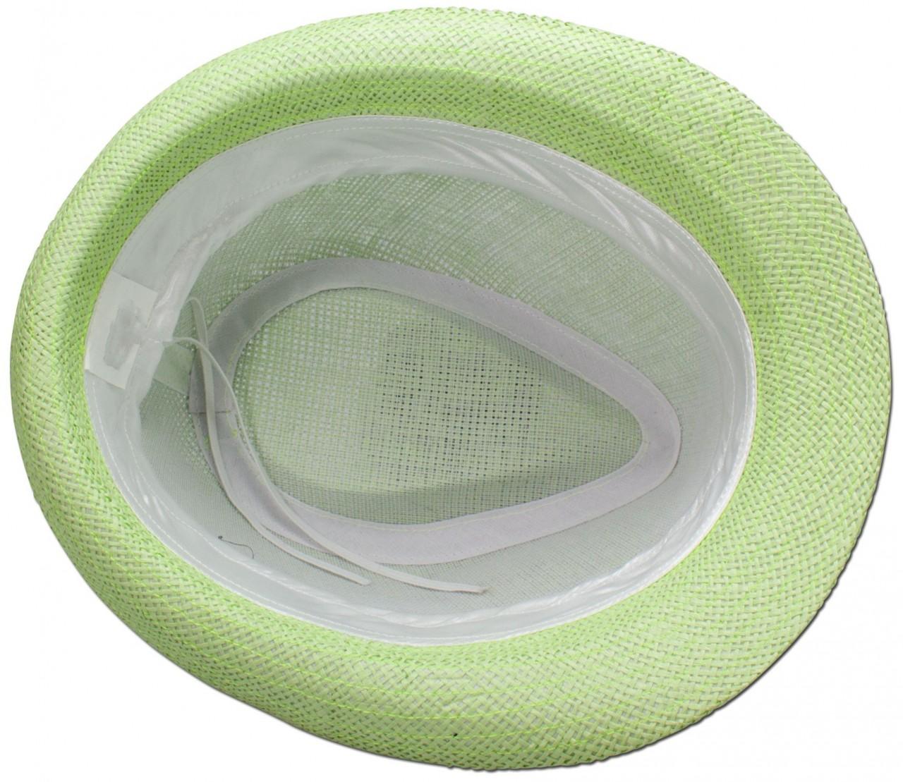 Trachten-Strohhut schlicht hellgrün