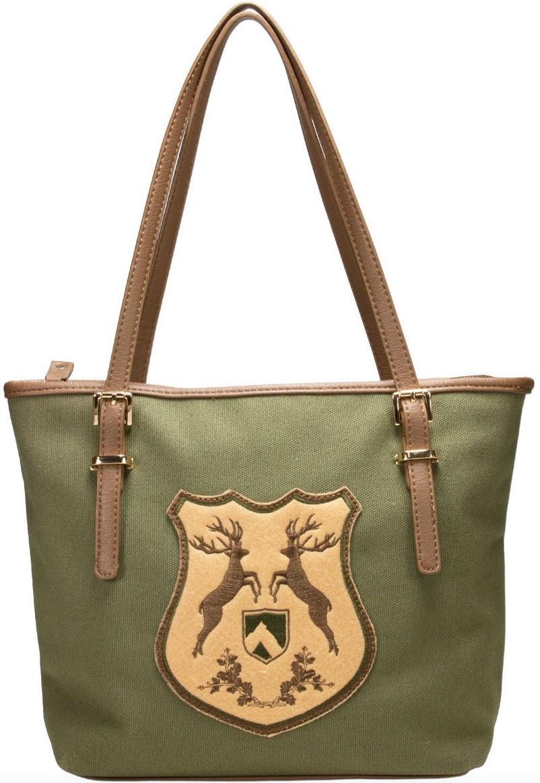 Trachten Handtasche mit Hirschwappen grün