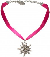 Vorschau: Satin-Trachtenkette Marlene pink