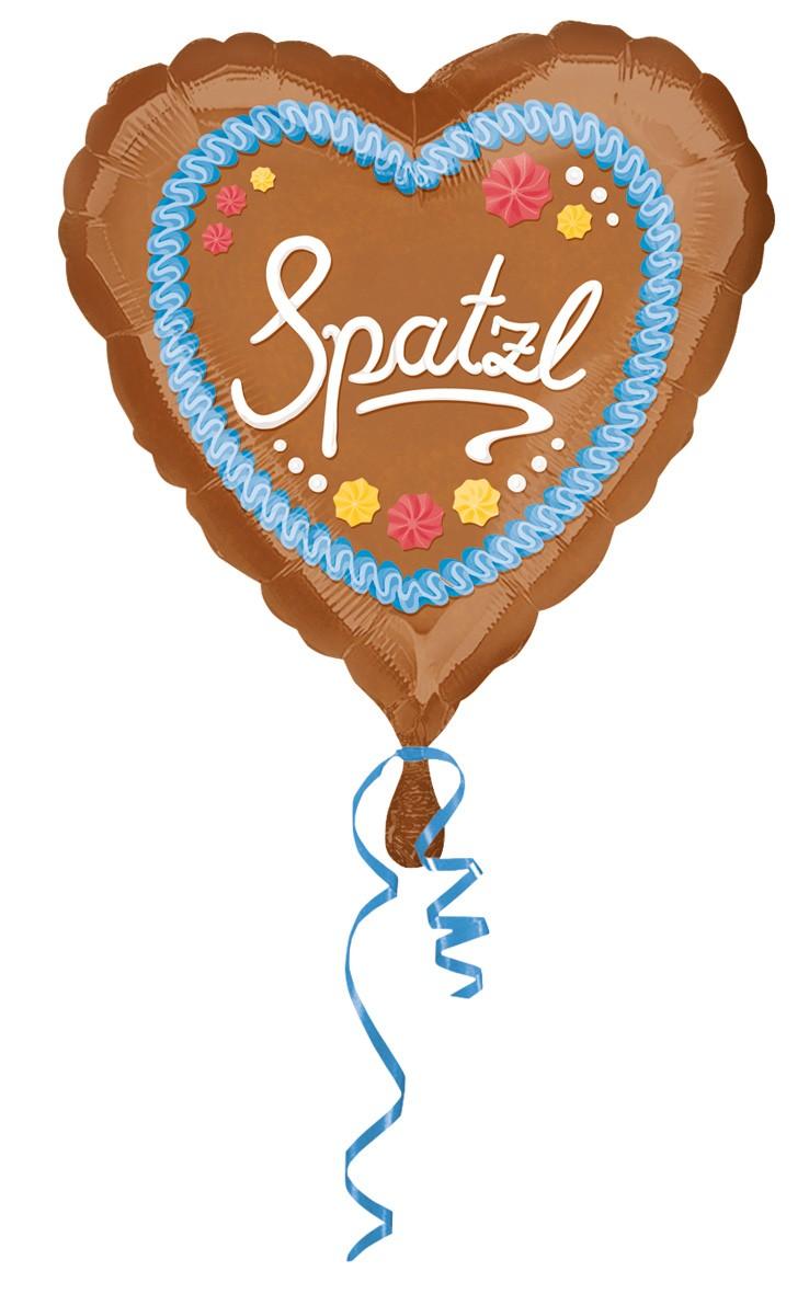 Folienballon Spatzl Herz 43cm