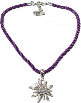 Trachtenkette Amelie lila