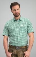 Vorschau: Trachtenhemd Renko in dunkelgrün