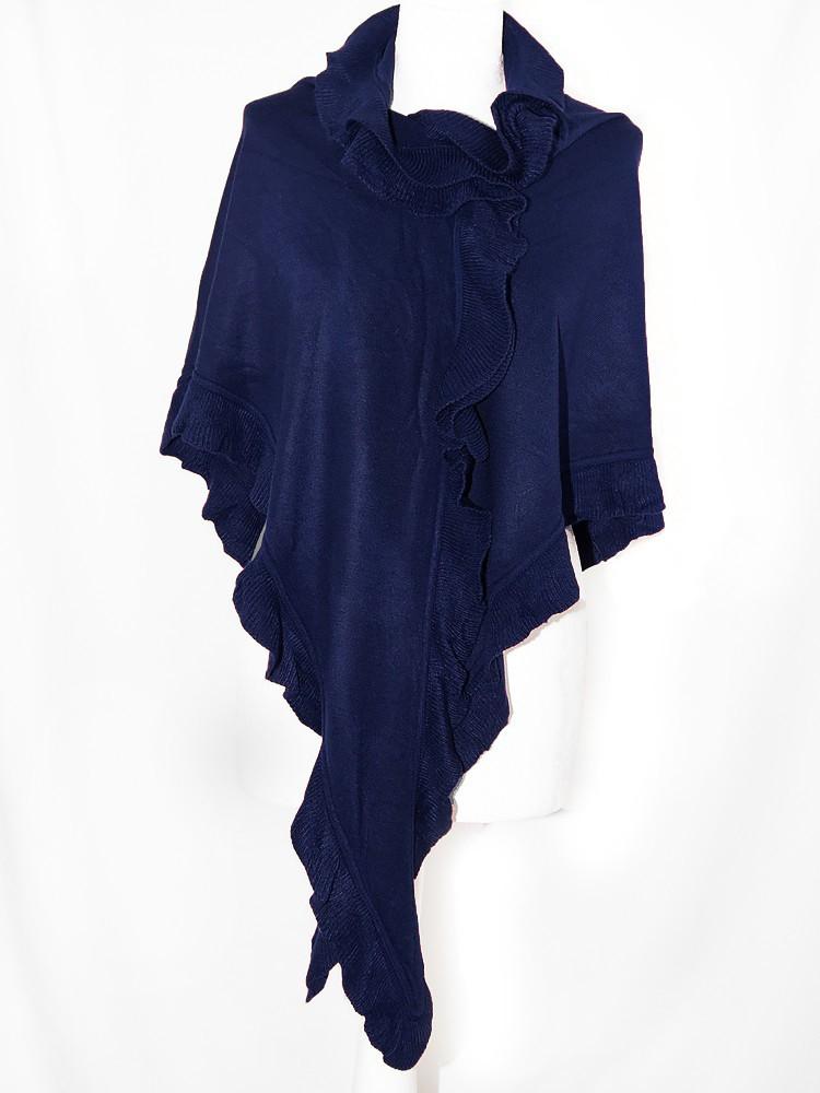 fairer Preis am besten wählen innovatives Design Poncho dunkelblau