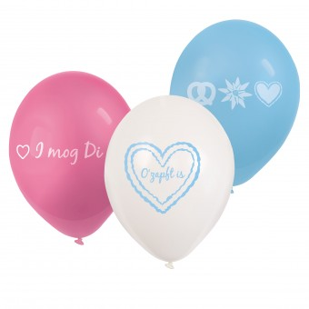 6 Latexballons O` zapft is