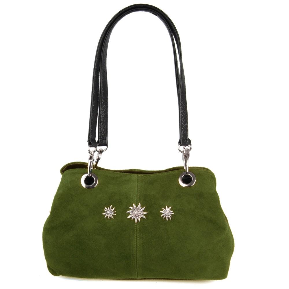 Handtasche Larissa Wildleder oliv