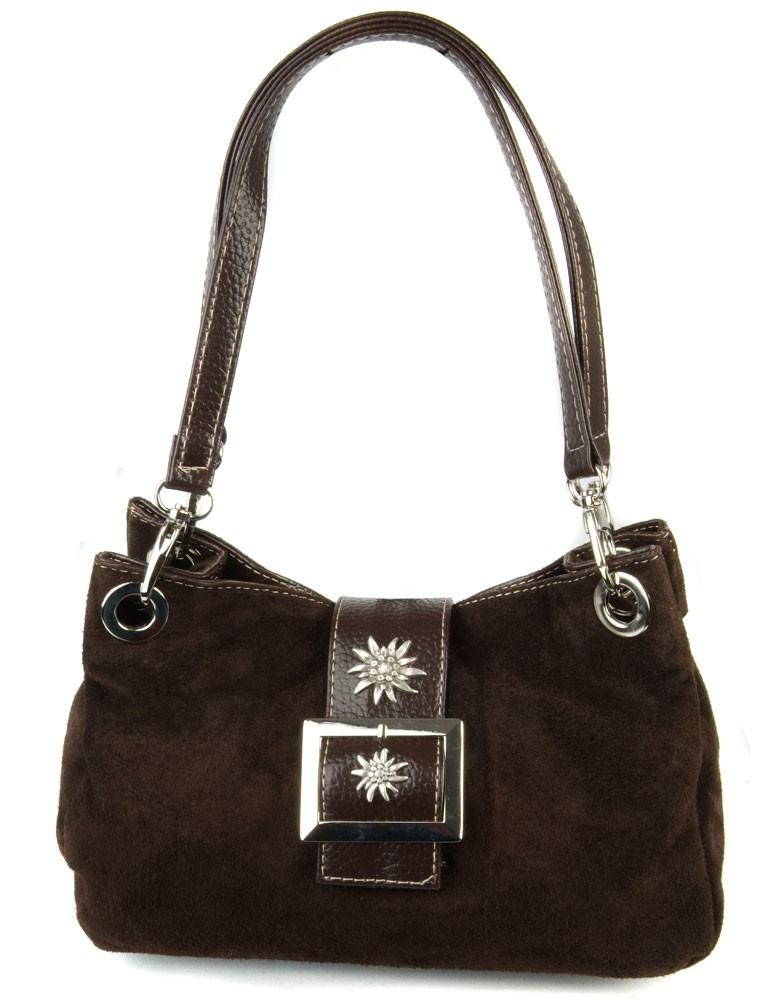 Handtasche Nora Wildleder dunkelbraun