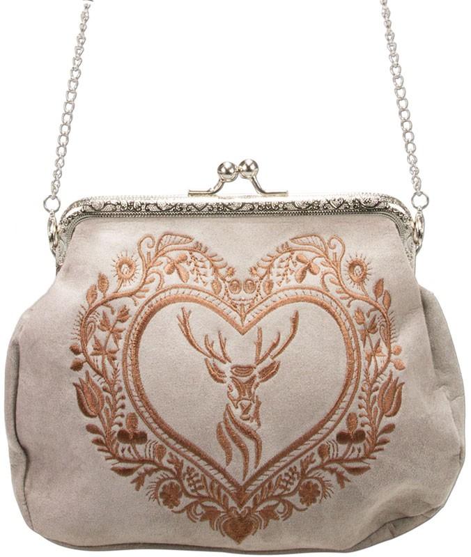 Rahmentasche Trachtentasche beige