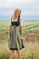Preview: Dirndl Fanny grün