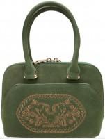 Vorschau: Trachtentasche Steinbock grün