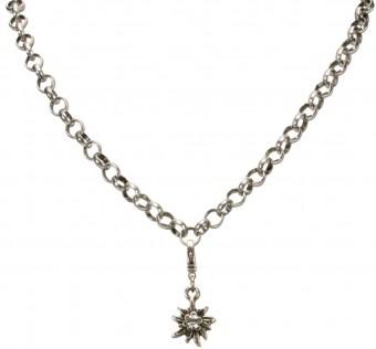 Trachten Rhinestone Edelweiss Pendant, Mini