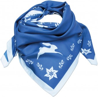 Neckerchief, Forest Print, Blue
