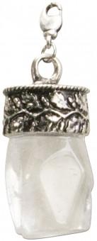 Trachten White Amethyst Pendant, Antique Silver