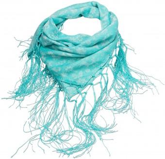 Frayed Trachten Neckerchief, Turquoise