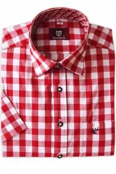 Herrenhemd Hartmut rot