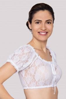 Dirndlbluse Luana weiß
