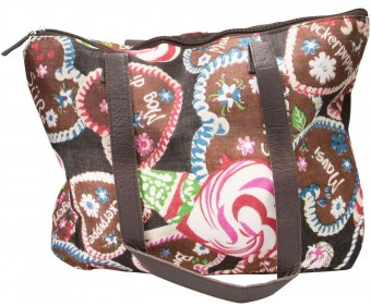 Trachten-Shopper Trachtentasche Sweet Temptation braun