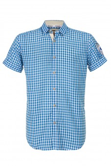 Kurzarmhemd Connor blau