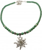 Widok: Naszyjnik z pereł duży zielony szarotka