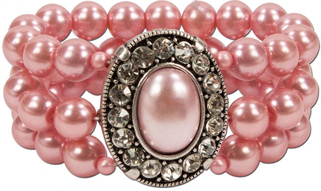 Perlenarmband Madeleine rosa