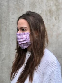 Mund-Nasen-Maske Lea himbeere