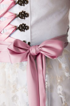 Hochzeitsdirndl lang Ferrara rosa