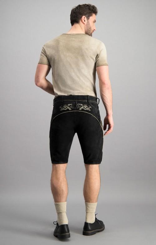 Lederhose Laurenz schwarz