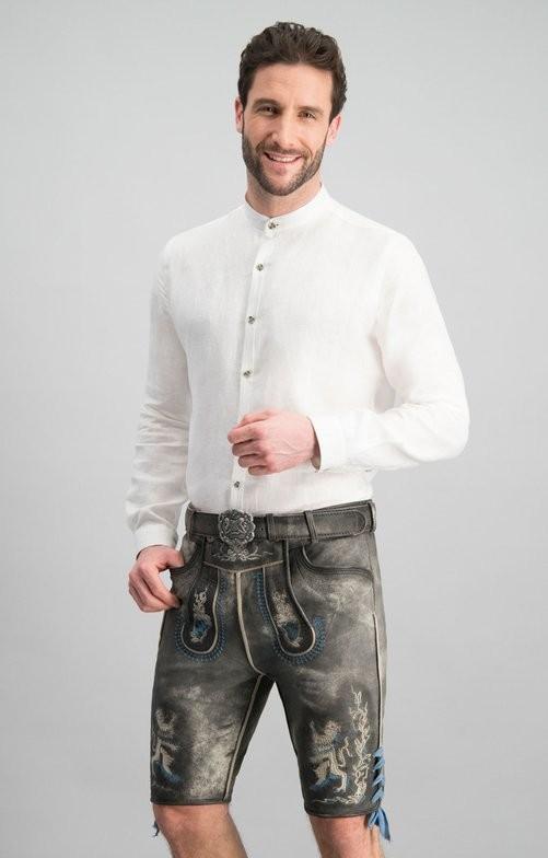 Lederhose Bayern Bua in grau