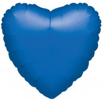 Herzballon Blau Metallic 43cm