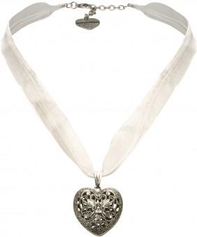Organza Trachtenkette Viktoria weiß