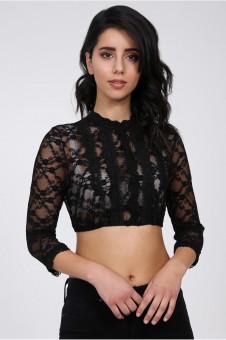 Dirndl blouse Simona black