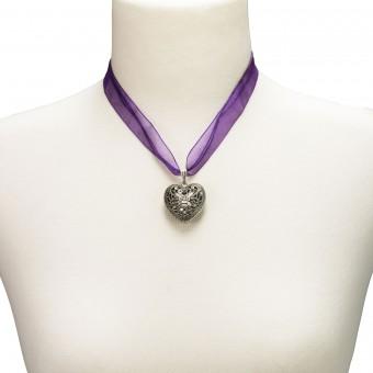Organza Trachtenkette Viktoria lila