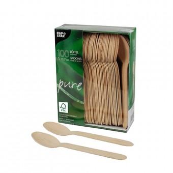 100 FSC Wooden Spoons 15.7cm