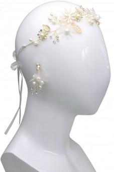Haarkranz mit Ohrringen