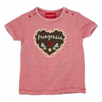 T-Shirt geringelt 'Prinzessin'