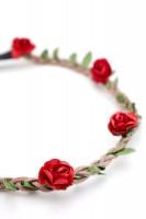 Vorschau: filigranes Haarband mit kleinen roten Blüten