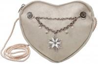 Vorschau: Herztasche Charivari Edelweiß taupe-grau