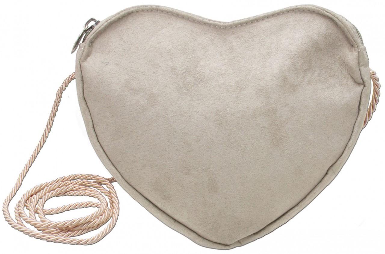Tradycyjna torebka w kształcie serca beżowa