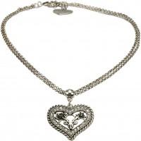 Vorschau: Halskette Strassherz altsilber