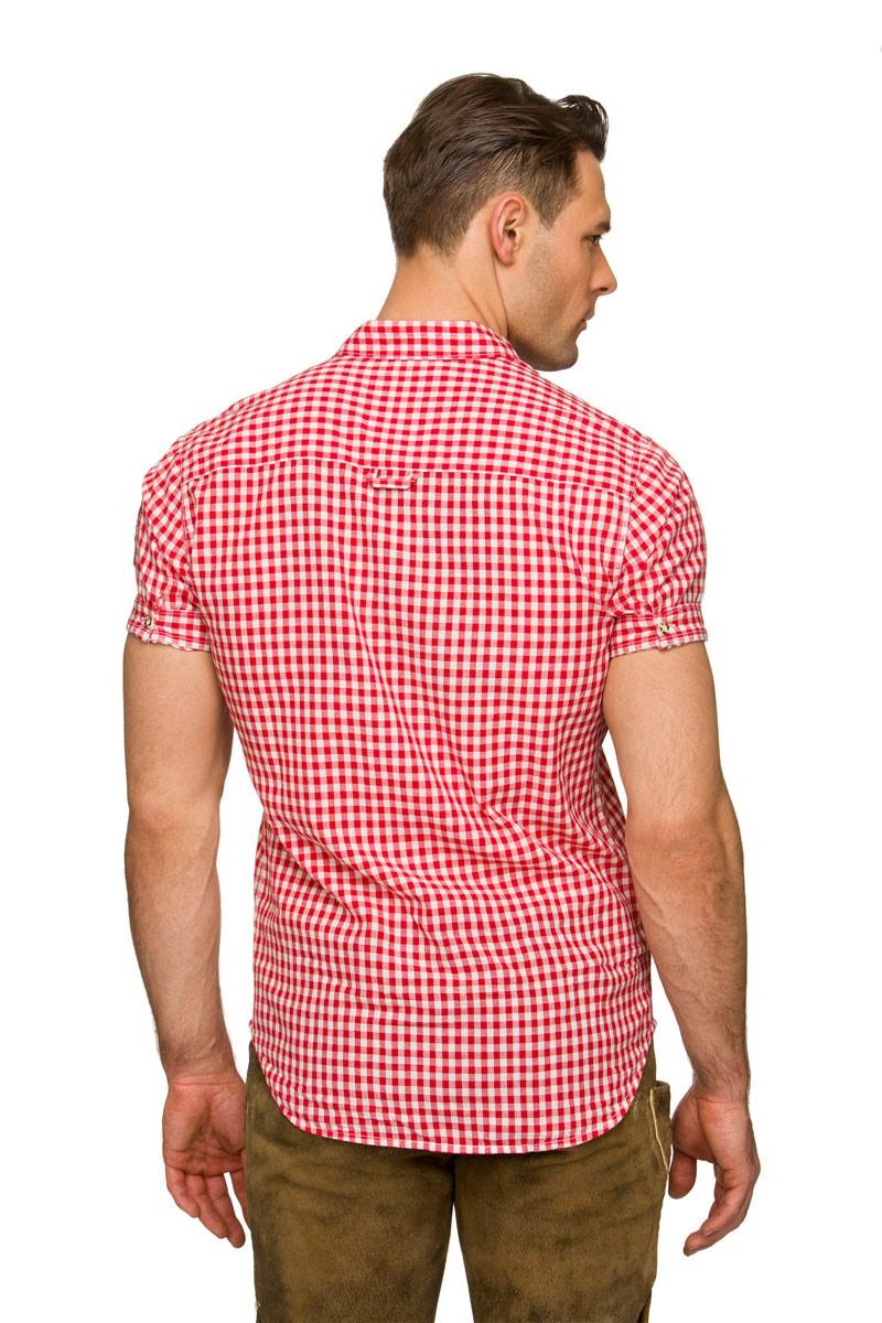 Overhemd met korte mouw Connor rood