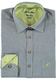 Herrenhemd Wiggerl tannengrün-hellgrün