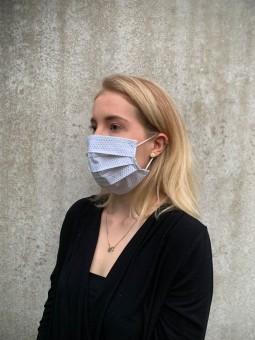 Mund-Nasen-Maske Bluebird weiß