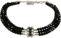 Preview: Perlenkropfkette Clara schwarz