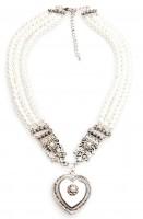 Perlencollier Herzchen