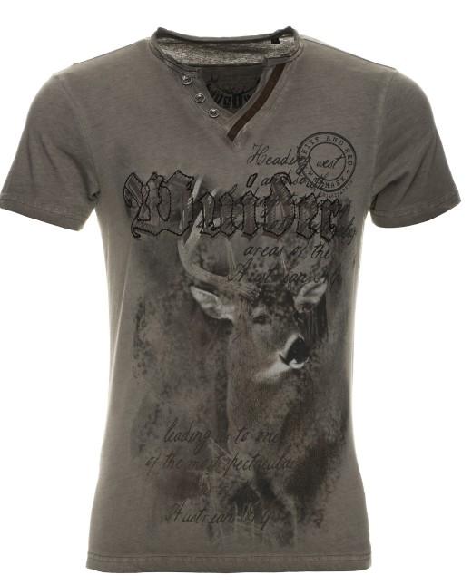 T-Shirt Uberto marron