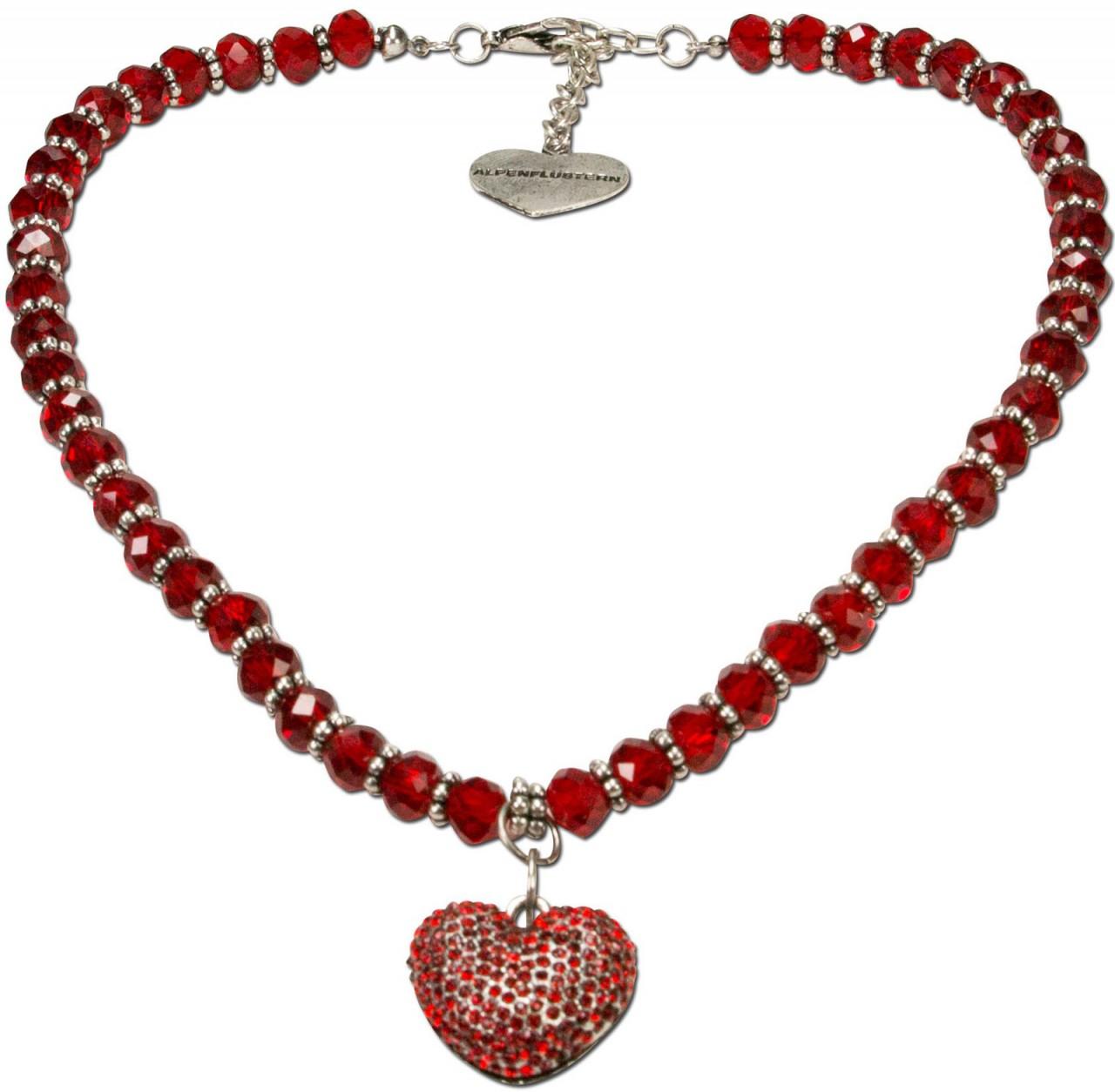 Perlenkette Mathilda rot