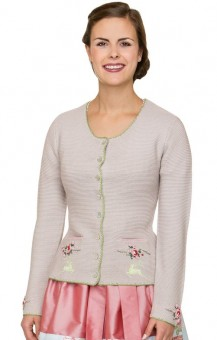 Traditional sweater Valetta in putty