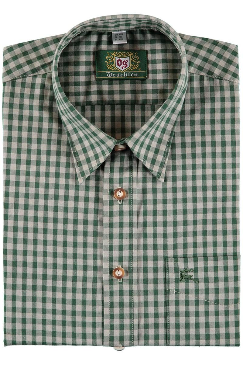 Trachtenhemd Bertl grün-beige