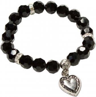 Trachten Pearl Bracelet Tina, Black