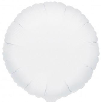 Runder Folienballon weiß 45cm