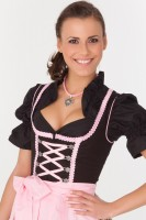 Pretty 3-piece black dirndl with black blouse